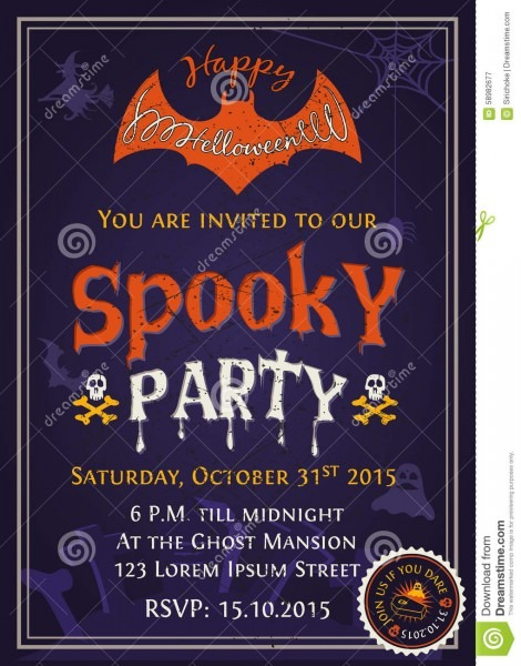 Inspirational Scary Halloween Invitations 66 For Your Invitation