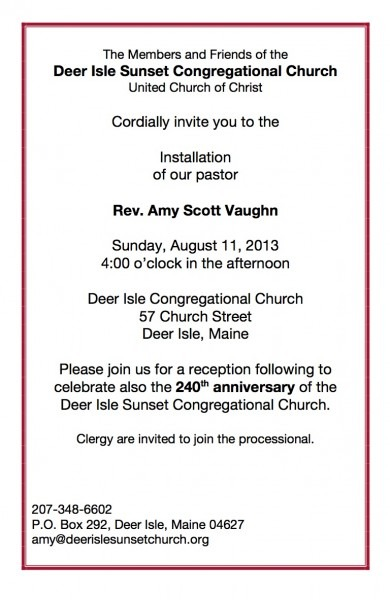 Installation And 240th Celebration August 11!