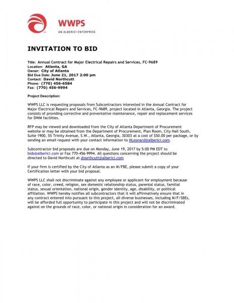 Wwps  Invitation To Bid
