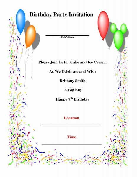 How To Write A Birthday Invitation 14 Steps With Pictures Examples