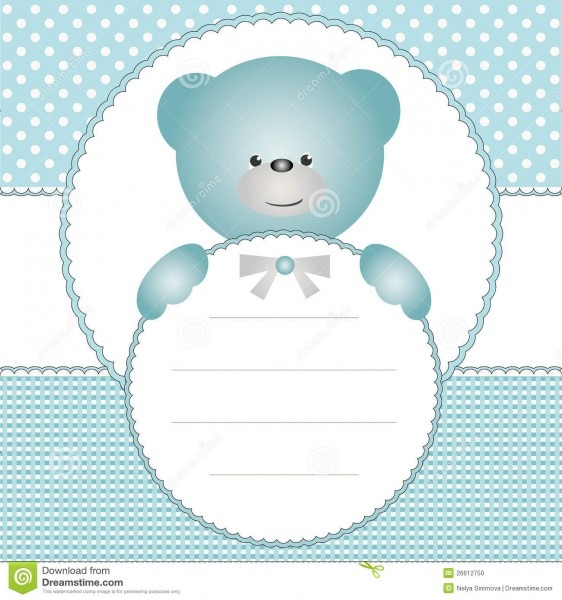 Invitation Card With Teddy Bear Illustration 26612750