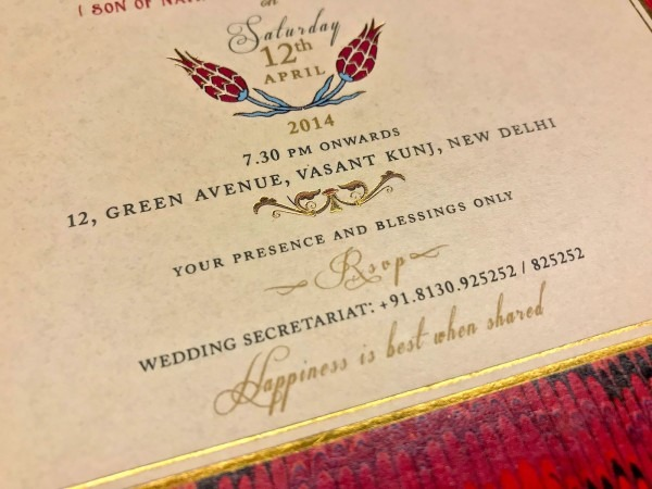 Indian Wedding Card Wording Guide  Rsvp, No Gifts & With Compliments