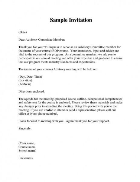 Invitation Letter Templates Samples New Board Member Invitation