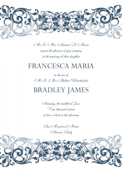 Wedding Card Word Template