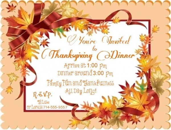 Invitation Thanksgiving Clip Art – Festival Collections