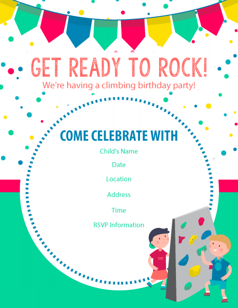 Invitation Trend Rock Climbing Birthday Party Invitations