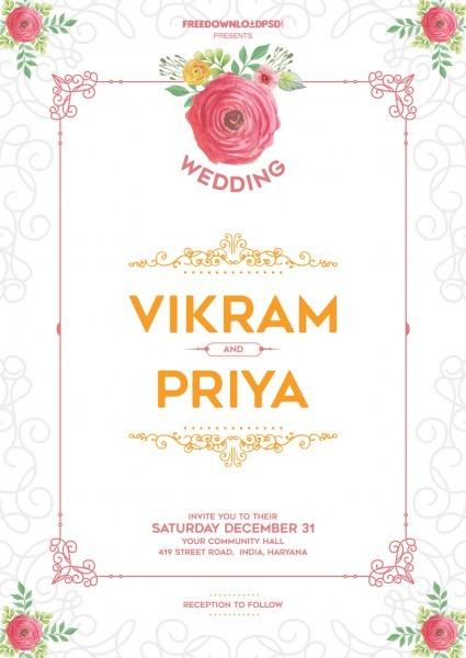 Invitation Wedding Templates Free Download Wedding Invitation Free