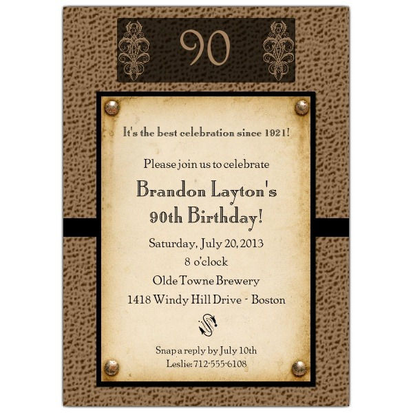 Spectacular Wording For 90th Birthday Party Invitations