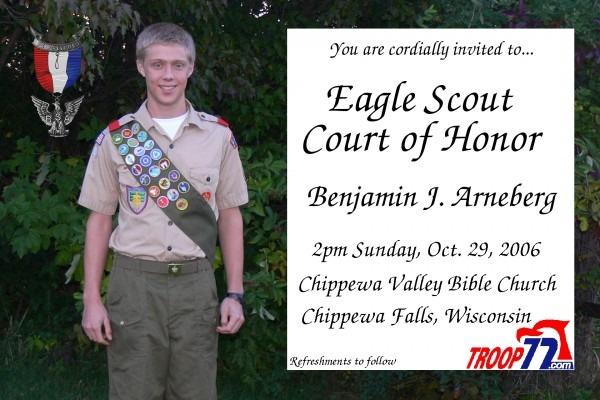 Bsa Troop 72  Eagle Court Of Honor Details (10 29 06)