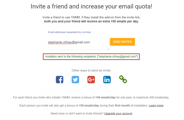 Refer Invite Friends To Install Yamm And Get Bonus Quota For Free