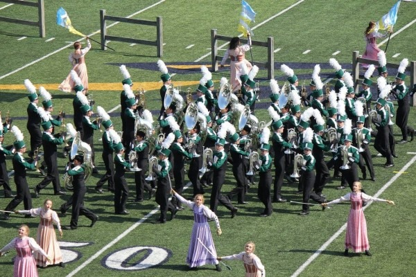 Competition Takes The Field At Jenison Marching Band Invitational