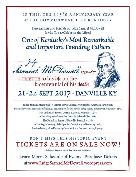 Event To Celebrate Samuel Mcdowell, Reunite Descendants Planned