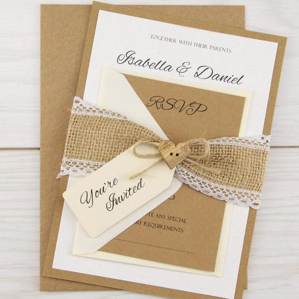 Dakota Parcel Wedding Invitation