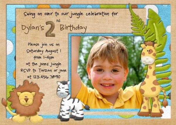 Jungle Birthday Invitation Wording Templates