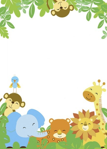 Baby Shower Invitation Template Jungle Theme Baby Shower