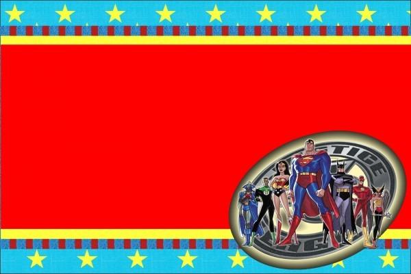Justice League  Free Printable Invitations