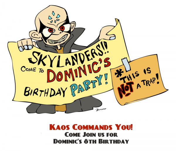 The Skylanders Party Highlights  The Invitation! (free Printable