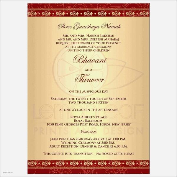 Kerala Hindu Wedding Reception Invitation Wording Fresh Indian