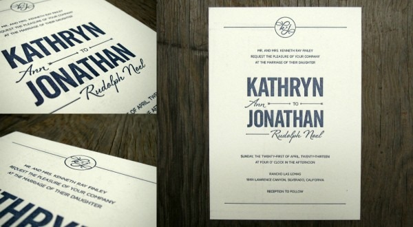 Navy + Gold Chevron And Arrow Wedding Invitations