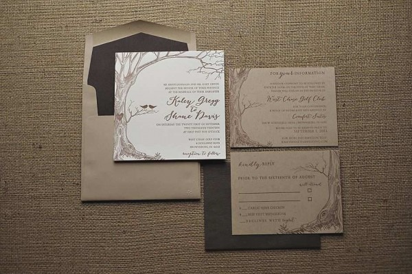 Kraft Wedding Invitations Fresh Rustic Wedding Invitation On Kraft