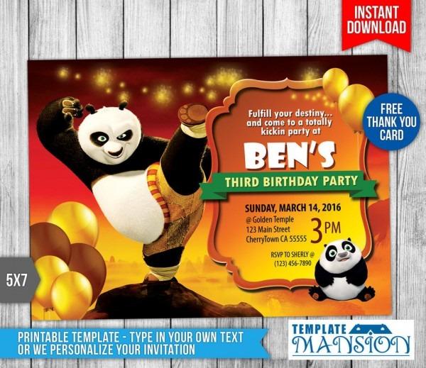 Mesmerizing Kung Fu Panda Birthday Card Gallery