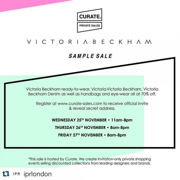 Victoria Beckham Sample Sale