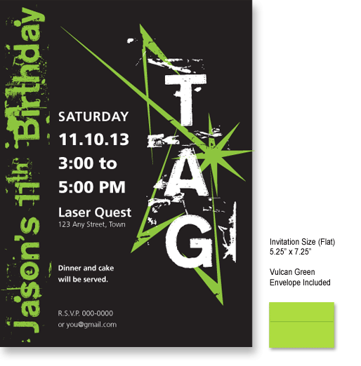 Laser Tag Birthday Invitations Laser Tag Birthday Invitations
