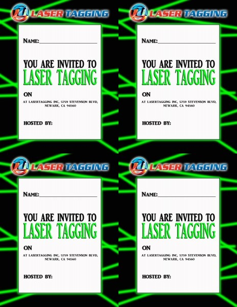 Laser Tag Party Invitations Laser Tag Party Invitations With