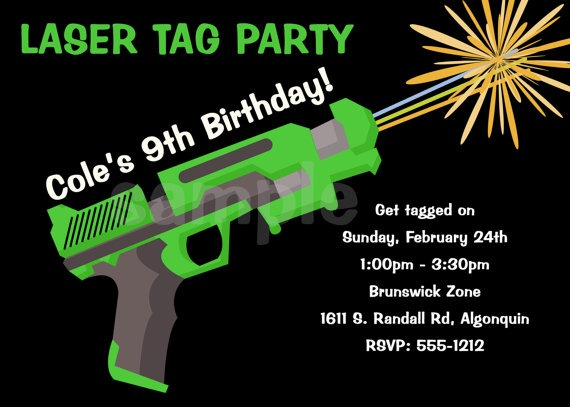 Laser Tag Party Invitations Laser Tag Party Invitations For Having