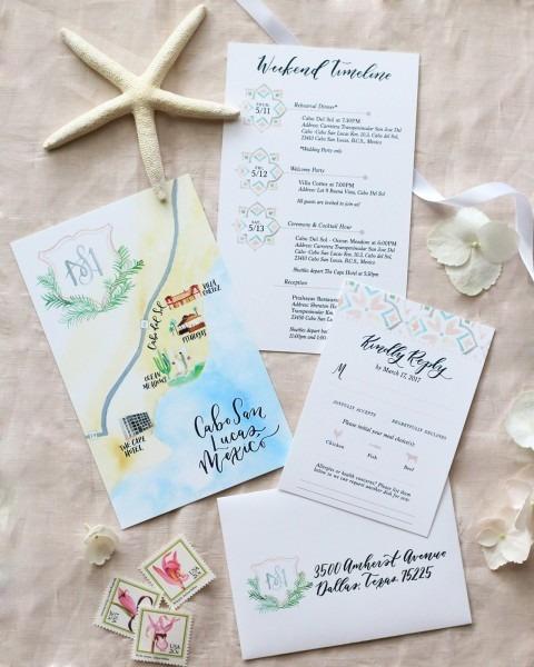 Cabo Beach Wedding Invitation