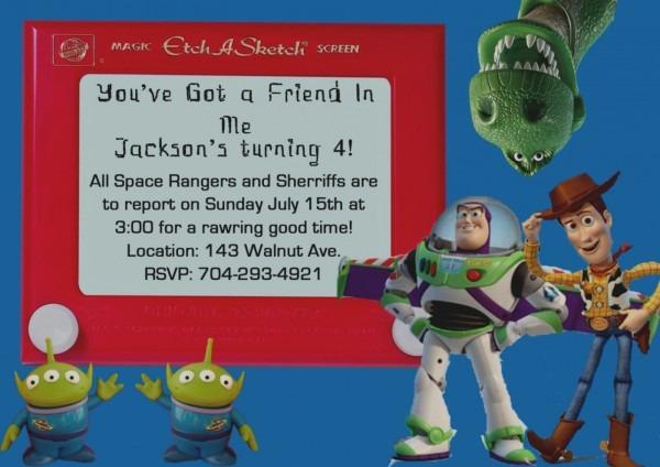 Best Of Toy Story Birthday Invitation Wording Alanarasbach Com