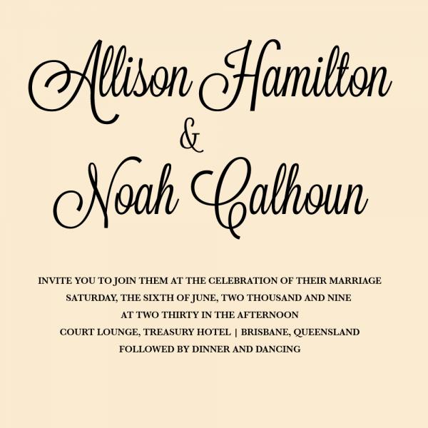 Great Vintage Wedding Invitation Font Pairings