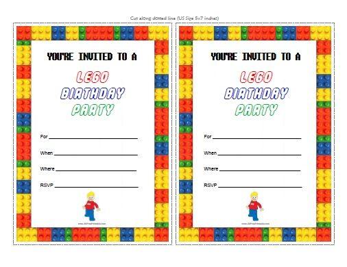 Lego Birthday Invitations Lego Birthday Invitations As A Result Of
