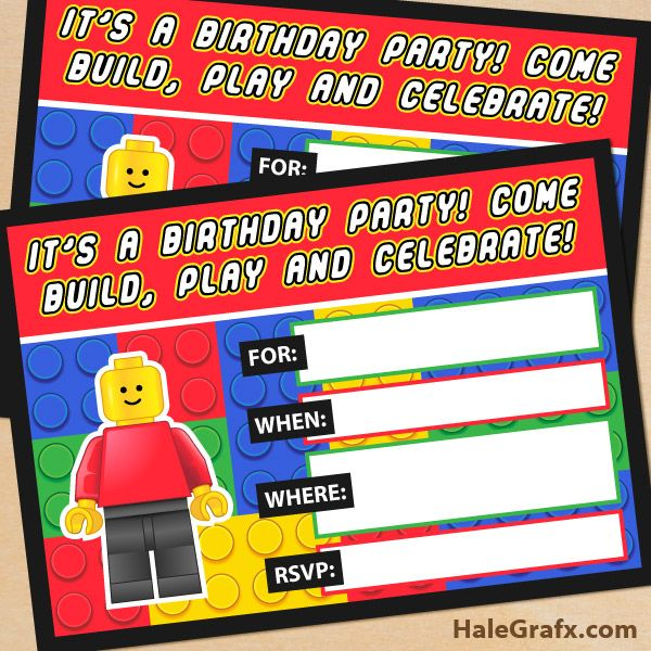Lego Birthday Party Invitation Free Template Fancy With Lego