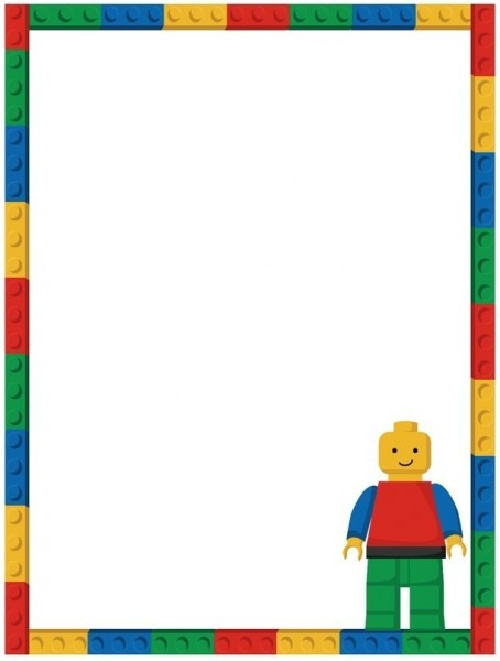 Invitation  Lego Birthday Party Invitation Free Template