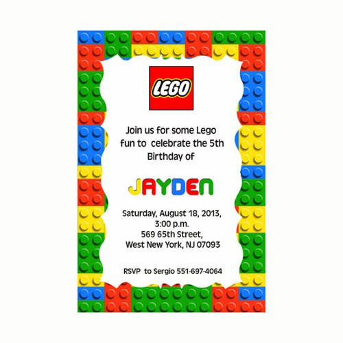Lego Party Invitations Lego Party Invitations With A Combination