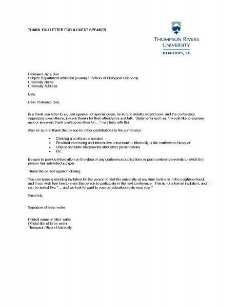 Letter Of Invitation University Sample Fresh Thank You Letter