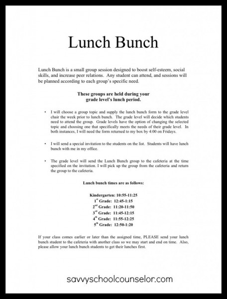 Lunch Bunch Anyone   Planning And Scheduling