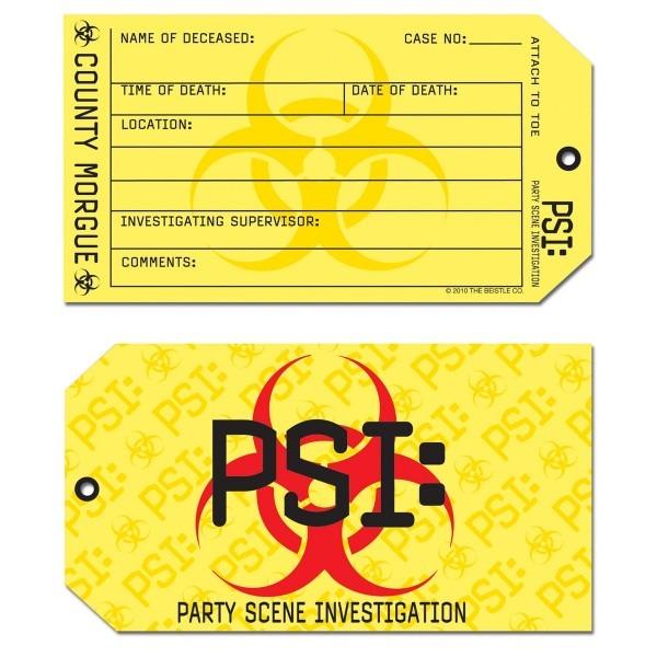 8 Psi Crime Scene Murder Mystery Forensic Coroner Toe Tag Birthday