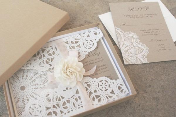 Lillian Lace Collection – Lace Wedding Invitation