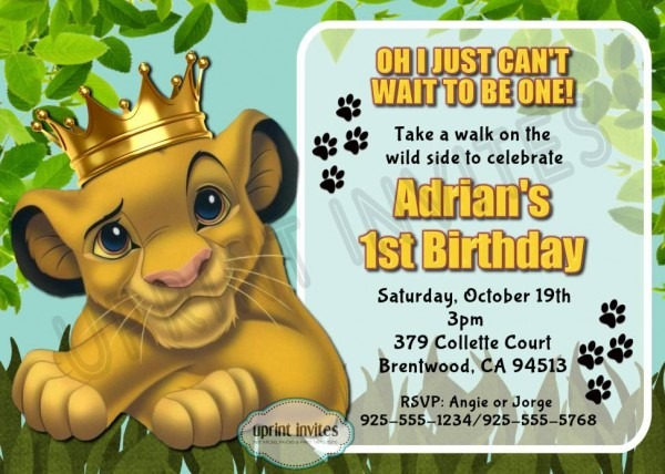 Lion King Invitation Template Free Lovely With Lion King