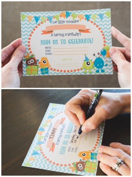 Free Printable Monster Birthday Invitations