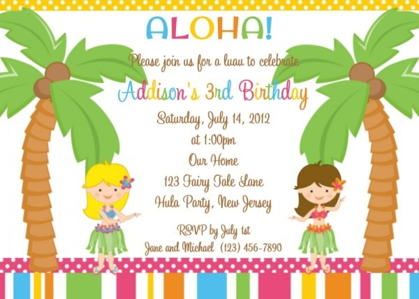 Invitation Template  Kids Birthday Invitation Text