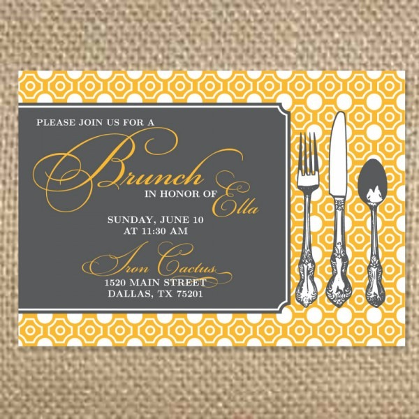 Brunch Invitations Templates Free Download