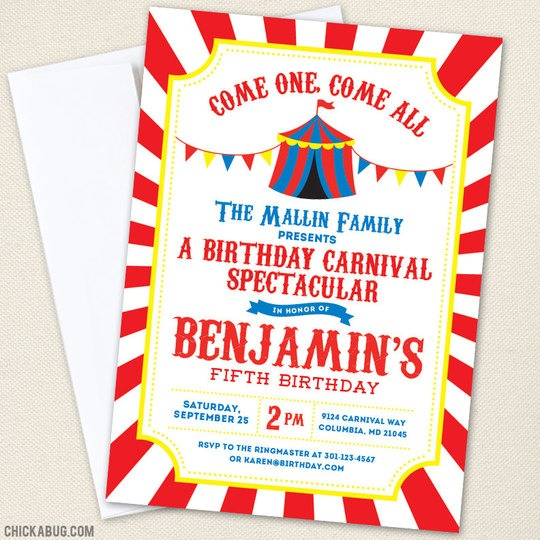 Luxury Carnival Party Invitations