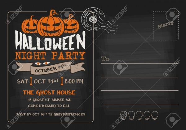 Luxury Halloween Party Invitation Templates Free 12 For Your