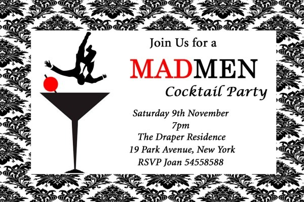Mad Men Party Invitations