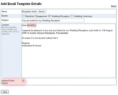 Marriage Invitation Sample Email Wedding Invitation Mail Template