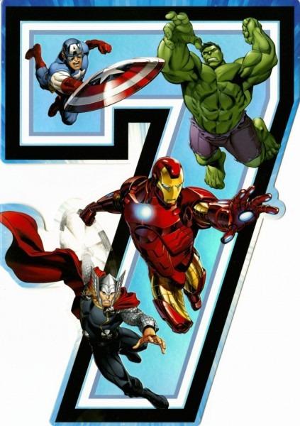 Marvel Birthday Card From Hallmark Thunderbirds Avengers Farewell