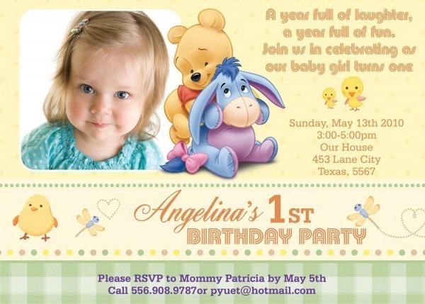 Birthday Invitations  How To Make Simple 1st Birthday Invitation
